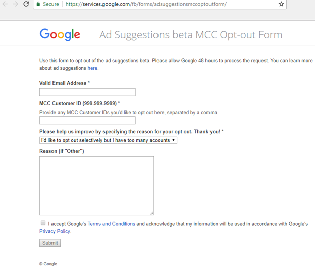 Google AdWords Update: Ad Suggestions Might Already Be