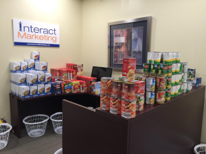 Hudson Valley Basket Brigade food collection at Interact Marketing