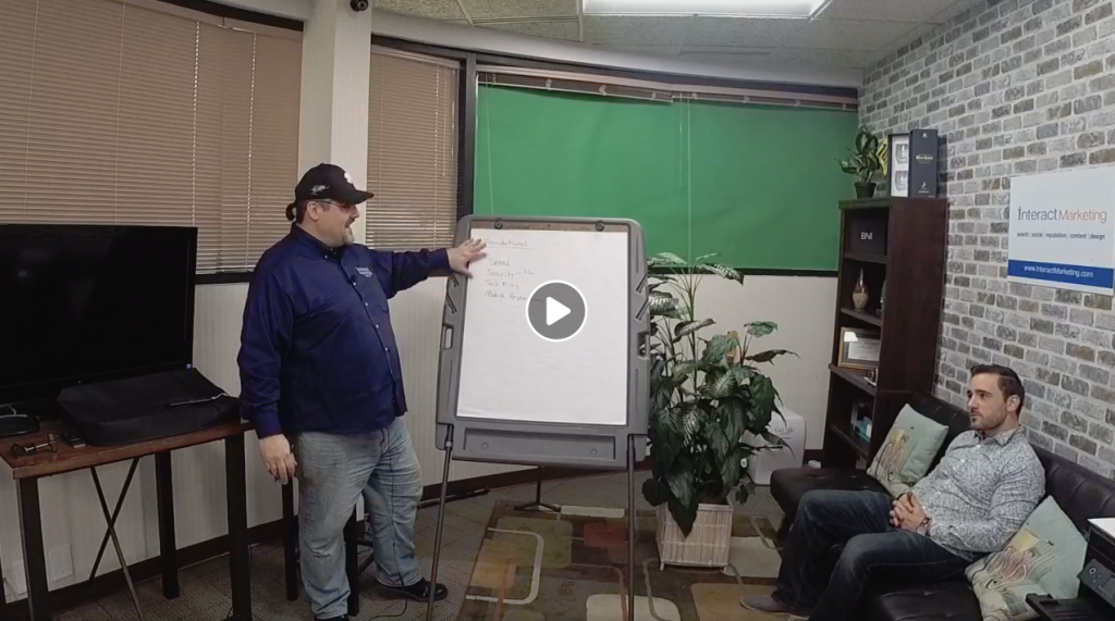 "Joe Beccalori and Anthony Church shooting web series ""Interact With Us"""